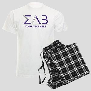 Sigma Lambda Beta Letters Per Men's Light Pajamas