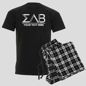 Sigma Lambda Beta Letters Pers Men's Dark Pajamas