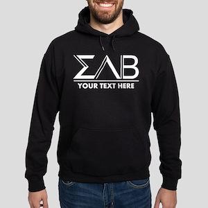Sigma Lambda Beta Letters Personaliz Hoodie (dark)