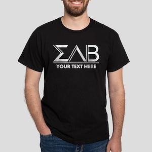 Sigma Lambda Beta Letters Personalize Dark T-Shirt