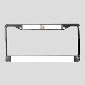 Casket Occupied License Plate Frame