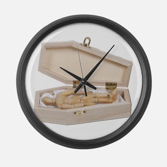 Casket Occupied Large Wall Clock
