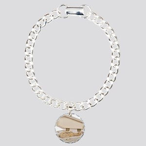 Casket Occupied Charm Bracelet, One Charm