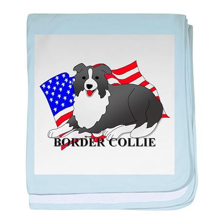 Border Collie USA baby blanket