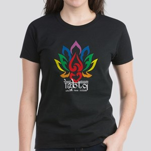 LGBTQ Lotus Flower Women's Dark T-Shirt