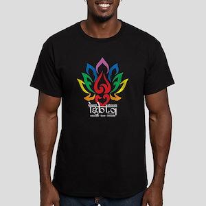 LGBTQ Lotus Flower Men's Fitted T-Shirt (dark)