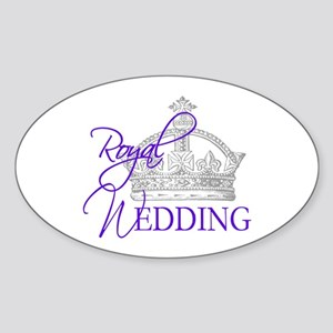 Royal Wedding London England Sticker (Oval)