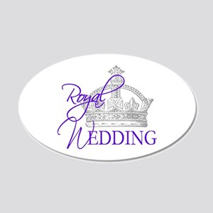 Royal Wedding London England 22x14 Oval Wall Peel