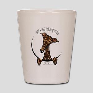 Brindle Greyhound IAAM Shot Glass