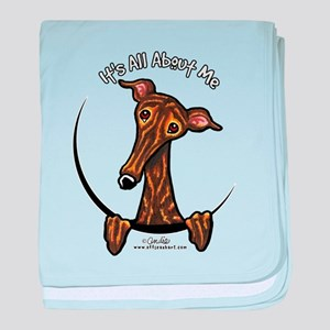 Brindle Greyhound IAAM baby blanket