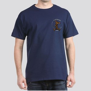 Brindle Greyhound IAAM Pocket Dark T-Shirt