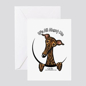 Brindle Greyhound IAAM Greeting Card