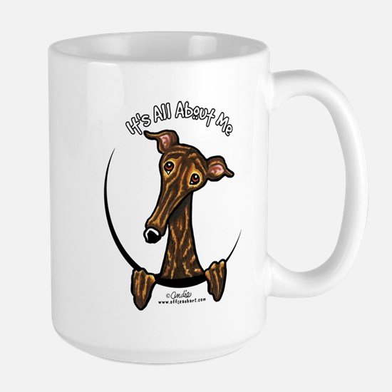 Brindle Greyhound IAAM Large Mug