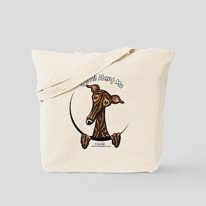 Brindle Greyhound IAAM Tote Bag