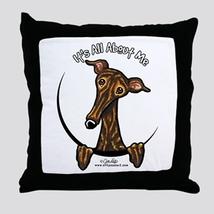 Brindle Greyhound IAAM Throw Pillow