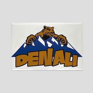 Denali Bear Mountain Rectangle Magnet