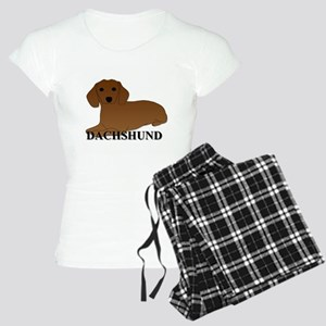 Cartoon Dachshund Women's Light Pajamas