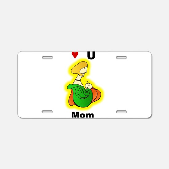 Proud Mommy Aluminum License Plate