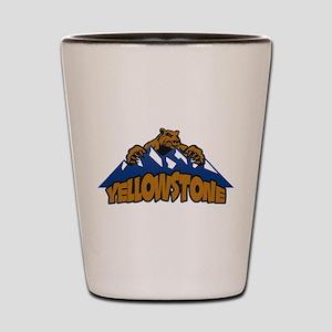 Yellowstone Bear Mountain Shot Glass