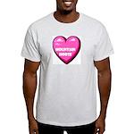 I Love My Mountain Horse Ash Grey T-Shirt