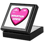 I Love My Mountain Horse Keepsake Box