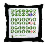 Special Kiwis Throw Pillow