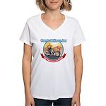 Mexico Biker Design Women's V-Neck T-Shirt