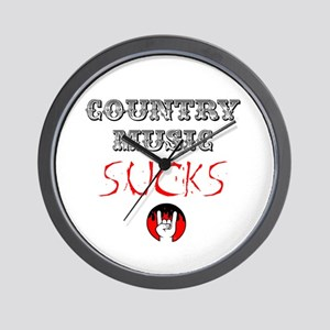 Country Music Sucks Wall Clock