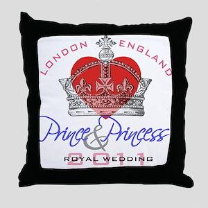 Prince & Princess Royal Weddi Throw Pillow