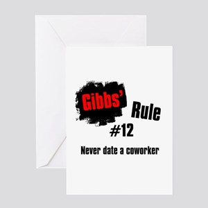 Gibbs' Rule #12 Greeting Card