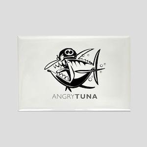 Angry Tuna Rectangle Magnet