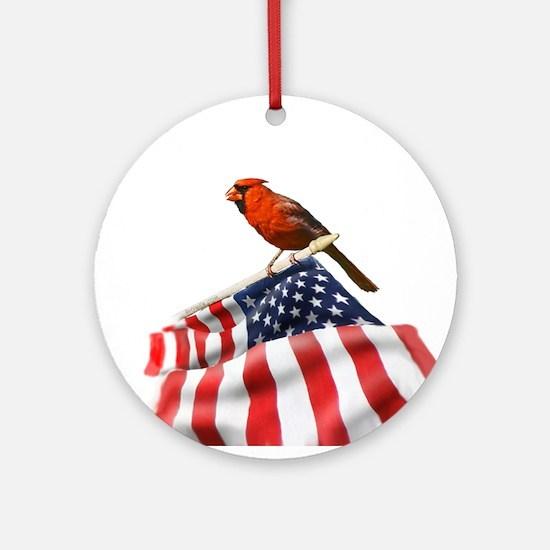 USA Cardinal Ornament (Round)