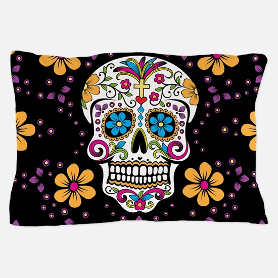 Unique Day of the dead dia de los muertos Pillow Case