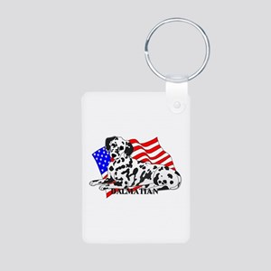 Dalmatian USA Aluminum Photo Keychain