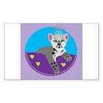 snow leopard Sticker (Rectangle 10 pk)