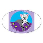 snow leopard Sticker (Oval 10 pk)