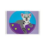 snow leopard Rectangle Magnet (100 pack)