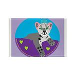 snow leopard Rectangle Magnet (10 pack)