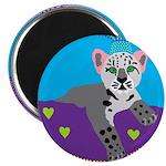 "snow leopard 2.25"" Magnet (100 pack)"
