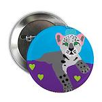 """snow leopard 2.25"""" Button (10 pack)"""