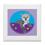 snow leopard Tile Coaster
