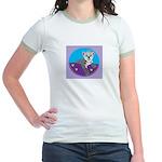 snow leopard Jr. Ringer T-Shirt