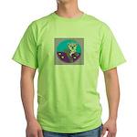 snow leopard Green T-Shirt
