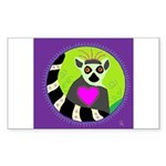 lemur Sticker (Rectangle 10 pk)
