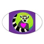 lemur Sticker (Oval 50 pk)