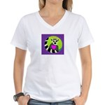 lemur Women's V-Neck T-Shirt