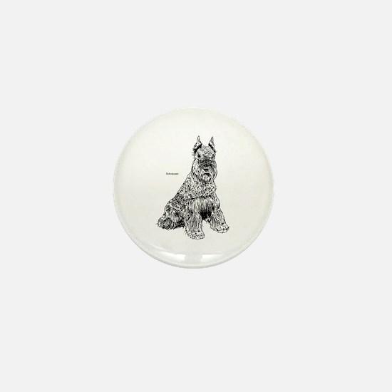 Schnauser Dog Mini Button (10 pack)