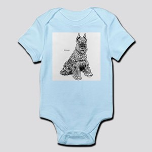 Schnauser Dog Infant Creeper