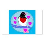 rose-breasted grosbeak Sticker (Rectangle 10 pk)