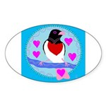 rose-breasted grosbeak Sticker (Oval 10 pk)